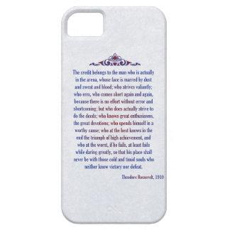 El hombre en la arena Teddy Roosevelt el crédito iPhone 5 Carcasas