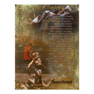 """El hombre en la arena"" Theodore Roosevelt Poster"