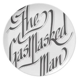 El hombre enmascarado gas plato para fiesta