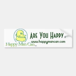 El hombre feliz puede pegatina para el parachoques pegatina para auto