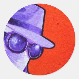 """""""el hombre invisible """" pegatina redonda"""
