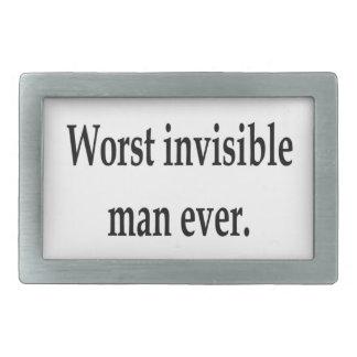El hombre invisible peor nunca hebilla cinturon rectangular