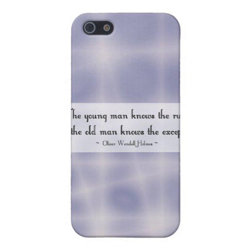 El hombre joven sabe las reglas… iPhone 5 carcasa