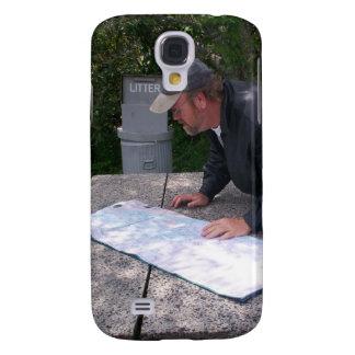 El hombre lee la mota Cas de Iphone 3g 3gs del map Funda Para Galaxy S4