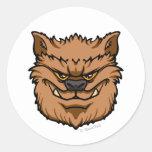 El hombre lobo (Brown) Pegatina Redonda