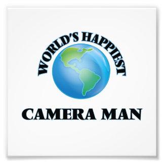 El hombre más feliz de la cámara del mundo cojinete