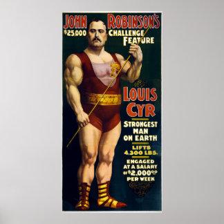 El hombre más fuerte del acto secundario del póster