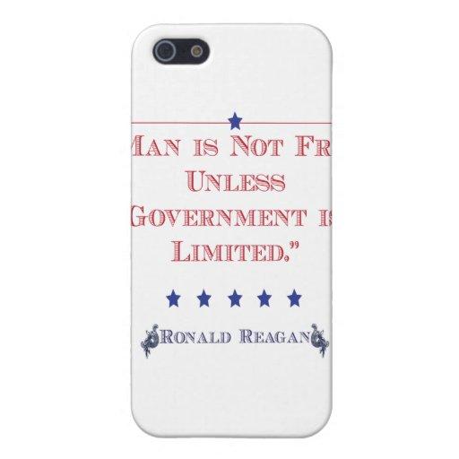 El hombre no está libre a menos que el gobierno se iPhone 5 protectores
