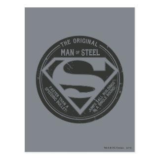 El hombre original de acero postal