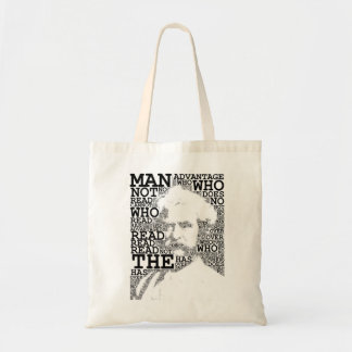 El hombre que no lee el tote bolsa
