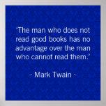 El hombre que no lee los buenos libros [azules] posters