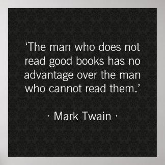 El hombre que no lee los buenos libros impresiones