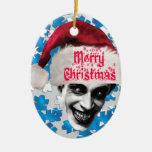 El hombre que se ríe de navidad ornamento para arbol de navidad