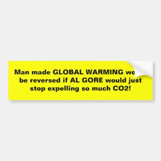 ¡El hombre reverso hizo el calentamiento del plane Etiqueta De Parachoque
