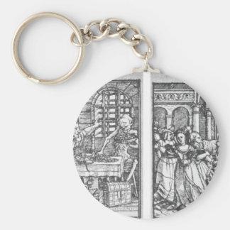 El hombre rico la reina de Hans Holbein el más Llavero Redondo Tipo Pin