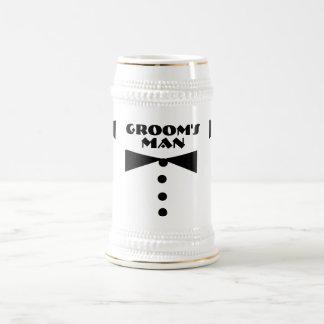 El hombre Stein del novio Jarra De Cerveza