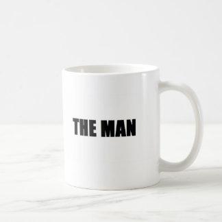 El hombre taza básica blanca