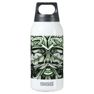 El hombre verde botella isotérmica de agua