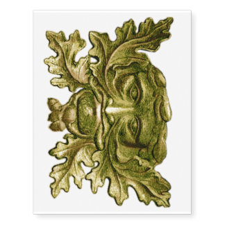 El hombre verde céltico - tatuaje de los tatuajes temporales