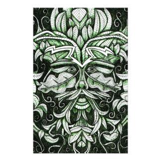El hombre verde  papeleria de diseño