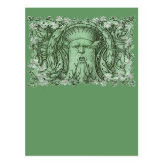 El hombre verde postales
