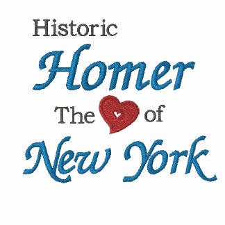 El Home run-Corazón histórico de Nueva York bordó  Camiseta Polo