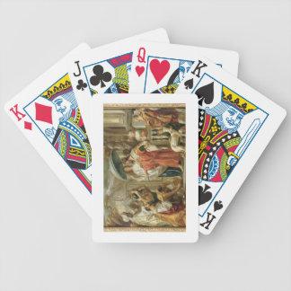 El homenaje del al-Rashid de Harun del califa a Ch Baraja Cartas De Poker