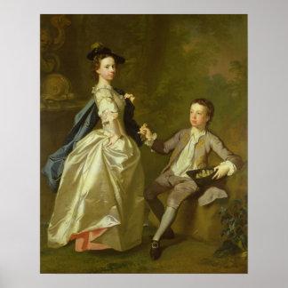 El Hon. Raquel Hamilton y su hermano Póster