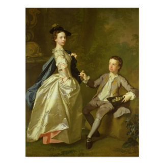 El Hon. Raquel Hamilton y su hermano Postal