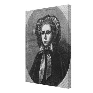 El Hon. Señora Yelverton, 1861 Impresión En Lona Estirada