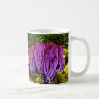 El hongo coralino violeta Clavaria Zollingeri Taza De Café