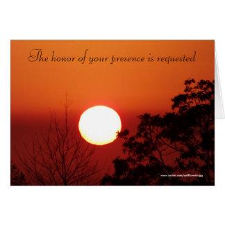 El honor de su presencia se pide tarjeta de felicitación
