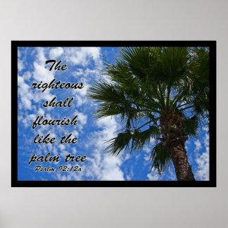 El honrado prosperará como la palmera posters