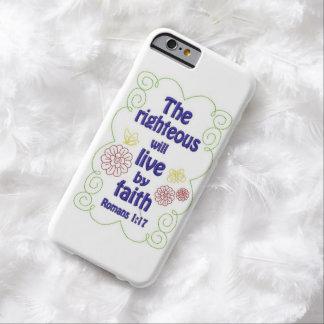 El honrado vivirá por la fe funda de iPhone 6 barely there
