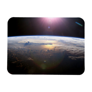 """El horizonte 3"""" de la tierra"""" imán de la foto x4"""