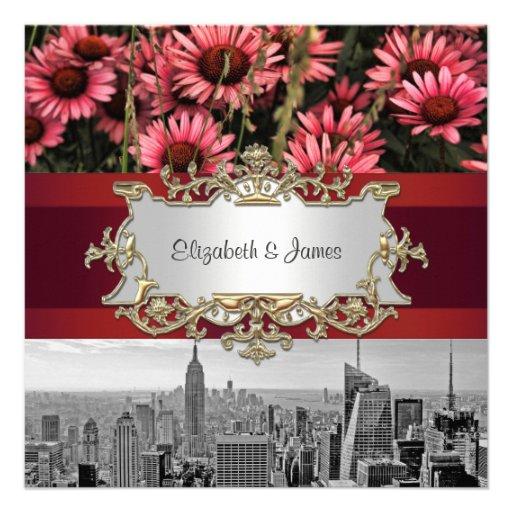 El horizonte BW 1 de NYC, alta línea florece 1 bod Invitacion Personalizada