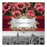 El horizonte BW 1 de NYC, alta línea florece 1 Invitacion Personalizada