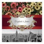 El horizonte BW 1 de NYC, alta línea florece 2 que Invitaciones Personales