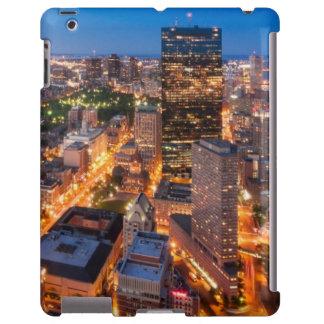 El horizonte de Boston en la oscuridad Funda Para iPad