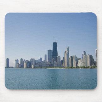 El horizonte de Chicago Alfombrillas De Raton