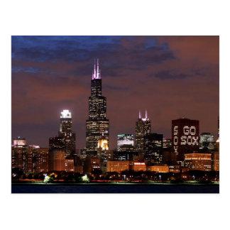 El horizonte de Chicago va Sox Postal