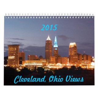 El horizonte de Cleveland OH ve el calendario 2015