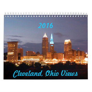 El horizonte de Cleveland OH ve el calendario 2016
