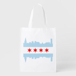 El horizonte de la bandera de Chicago Bolsa Para La Compra