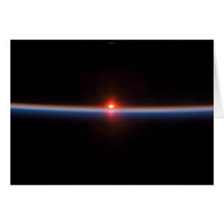 El horizonte de la tierra tarjeton