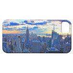 El horizonte de la última hora de la tarde NYC com iPhone 5 Case-Mate Fundas