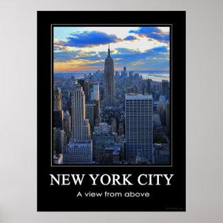 El horizonte de la última hora de la tarde NYC com Impresiones