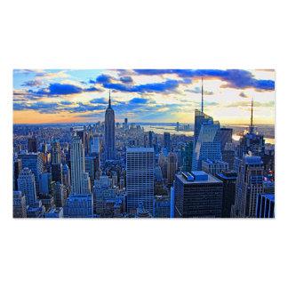 El horizonte de la última hora de la tarde NYC com Tarjetas De Visita