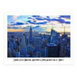 El horizonte de la última hora de la tarde NYC com Postal