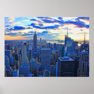El horizonte de la última hora de la tarde NYC Impresiones